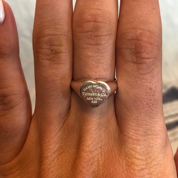 5cd334085 Tiffany & Co. Jewelry | Tiffany Co Heart Signet Ring | Poshmark